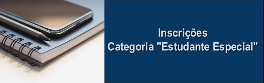 Inscrições para estudantes de outras Instituições de Ensino Superior (IES)