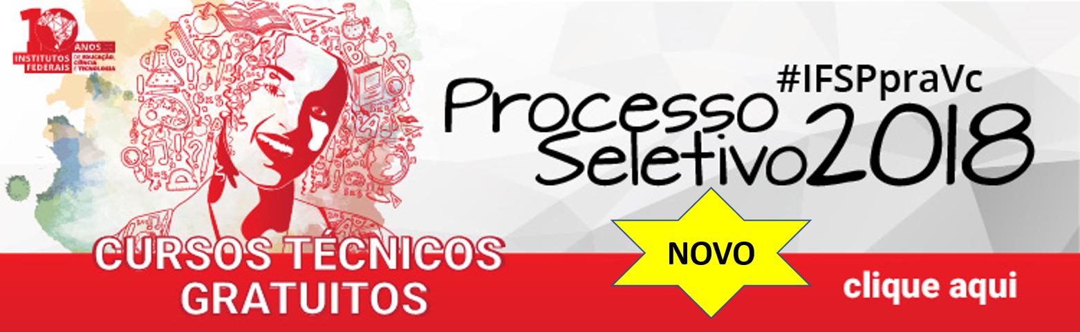 IFSP divulga relação preliminar de inscritos no processo seletivo para cursos técnicos