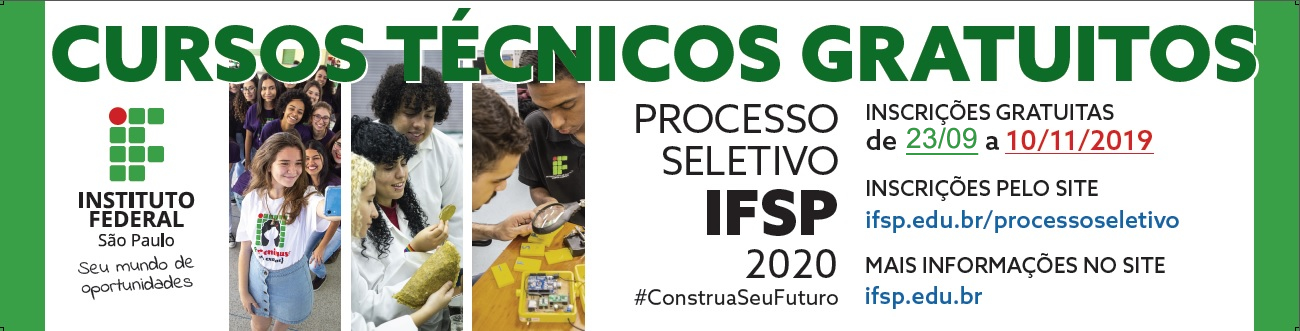 Processo Seletivo para cursos técnicos: inscrições a partir do dia 23 de setembro