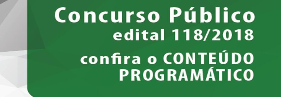 Concurso Público 2018 - Edital nº 118/18